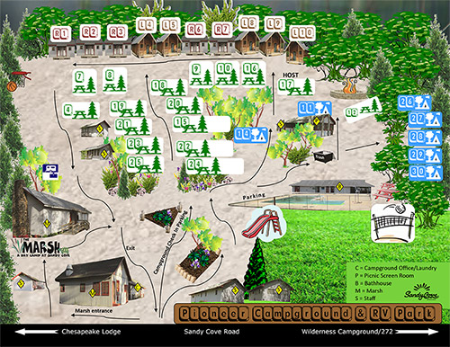 Pioneer Campground Map
