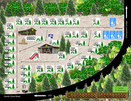 Wilderness Campground Map